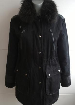 Куртка парка  momouchka с воротником из натурального меха1