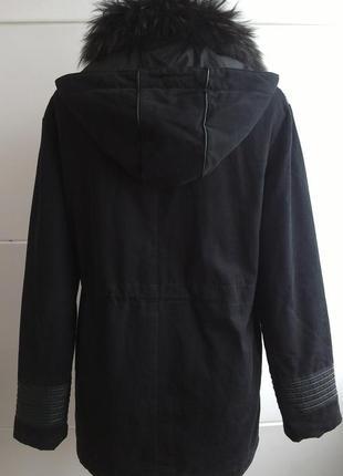 Куртка парка  momouchka с воротником из натурального меха2