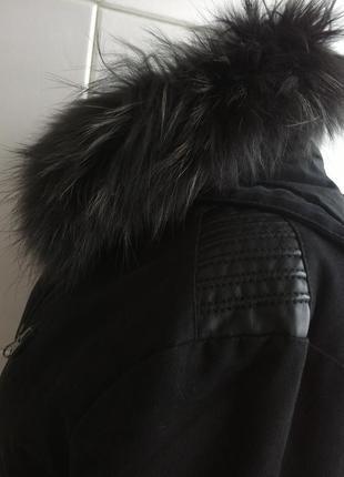 Куртка парка  momouchka с воротником из натурального меха3