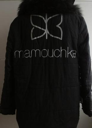 Куртка парка  momouchka с воротником из натурального меха4
