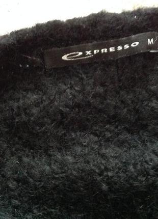Тёплый  длинный  буклированный полушерстянный кардиган с карманами. /m/ brend expresso3