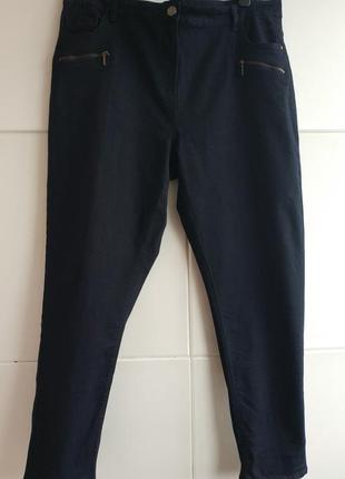Ультракомфортные джинсы-скинни m&co темно-синего цвета с молниями.2