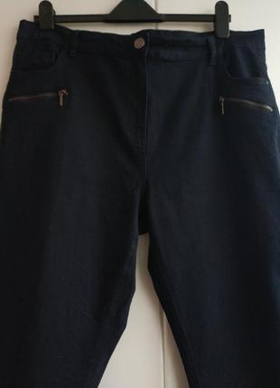 Ультракомфортные джинсы-скинни m&co темно-синего цвета с молниями.5