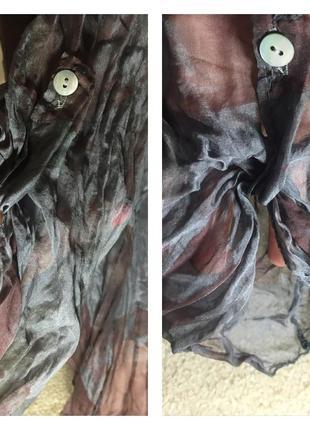 Фабрика италия 🇮🇹 шелковая блуза натуральный шелк рукав трансформер2