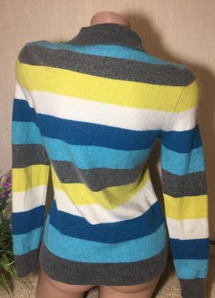 Германия 🇩🇪 полосатый кашемировый джемпер м-ка/  мериносовый свитер  louisa di carpi3