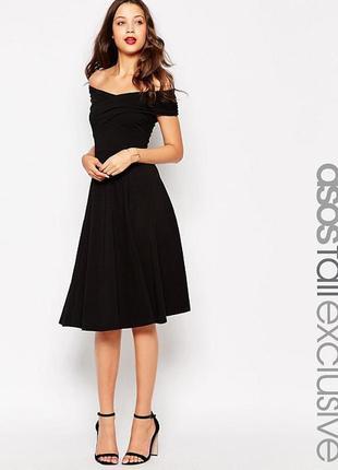 Платье миди с широким вырезом asos tall2