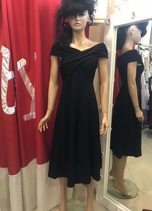 Платье миди с широким вырезом asos tall4