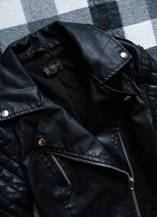 Куртка косуха topshop со стёгаными рукавами2