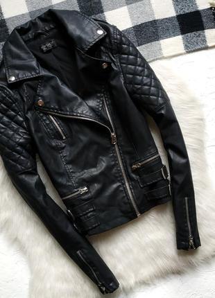 Куртка косуха topshop со стёгаными рукавами1