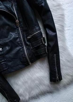 Куртка косуха topshop со стёгаными рукавами5