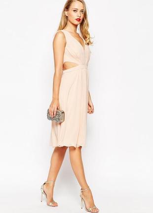 Платье миди с вырезом на боку asos