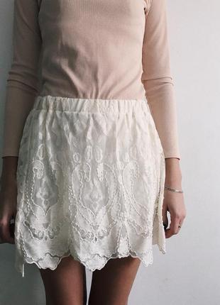 Кружевная юбка от h&m