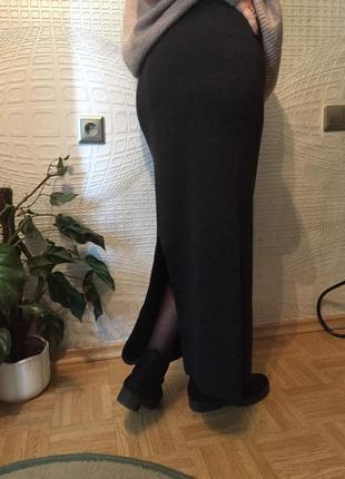Теплющая итальянская юбка макси из шерсти мериноса от beatrice macola