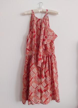 Сарафан платье с биркой волан рюши ассиметрия signature