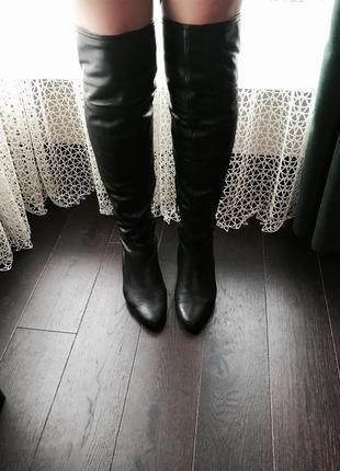 Сапоги чулки, ботфорты, кожаные сапоги