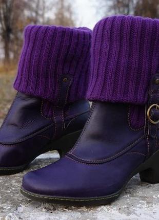 Жіночі ботінки, черевики el naturalista lila2