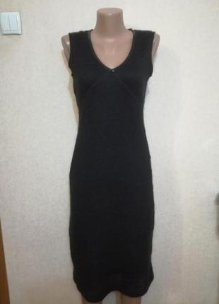 Теплое женственное мохеровое платье сарафан morgan