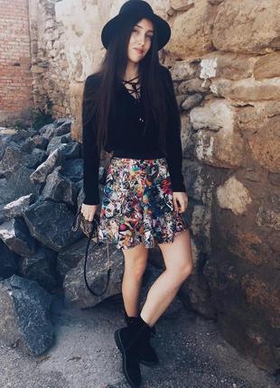Стильная юбка клеш