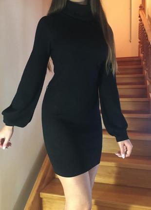 Вязаное платье свитер с красивыми рукавами фирмы french connection