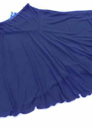 Оригинальная юбка миди на кокетке клеш с асимметричным подолом debenhams3