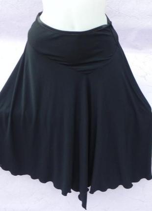 Оригинальная юбка миди на кокетке клеш с асимметричным подолом debenhams1