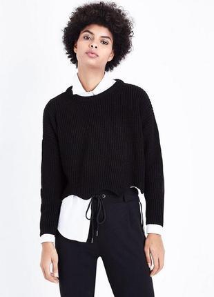 Укорочённий свитер кроп