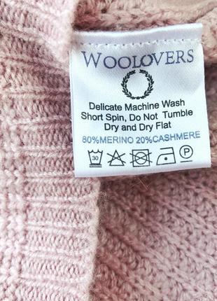 Красивый свитер 80% шерсть мериноса 20% кашемир woolovers2