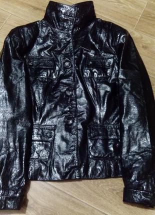 Куртка лакированная 100% кожа