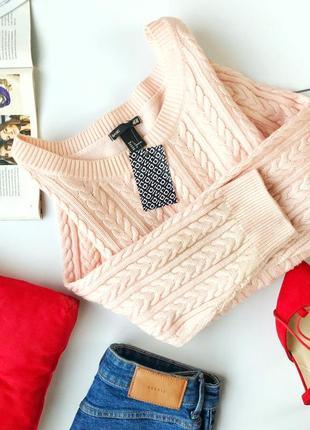 Стильный свитер в косы h&m1