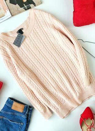 Стильный свитер в косы h&m2