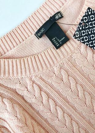 Стильный свитер в косы h&m3