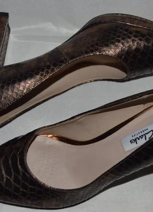 Туфли лодочки кожа clarks размер 40 (6,5) 39, туфлі шкіра