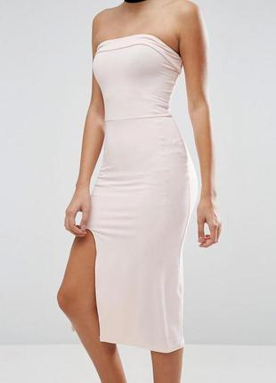 Облегающее платье миди без бретелек asos3