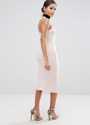 Облегающее платье миди без бретелек asos2