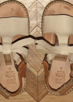 Детские кожаные босоножки сандалии zara baby(оригинал)р.21