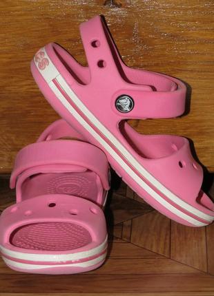 Детские сандалии босоножки кроксы crocs (оригинал)р.c8