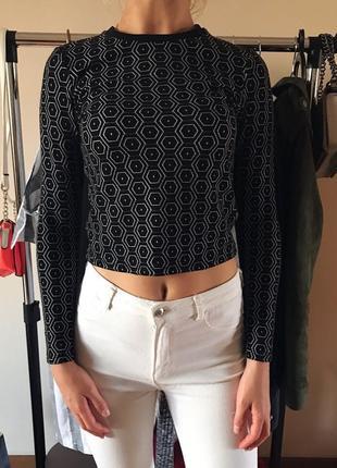 Укороченный свитер, кофта от topshop, кроп-топ