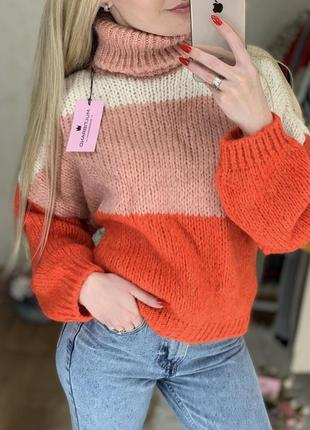 Тёплый свитерок oversized