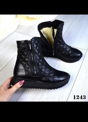 Зимние кожаные ботинки р. 382