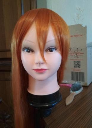 Рыжий парик густой 80 см аниме косплей длинный