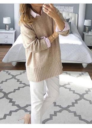 Платье свитер в стиле оверсайз zara2