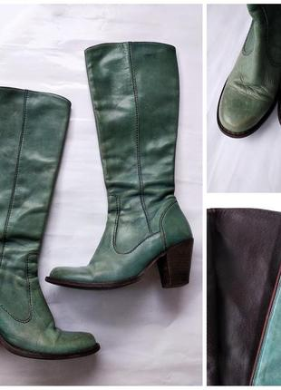 Суперские кожаные высокие сапоги lazamani италия