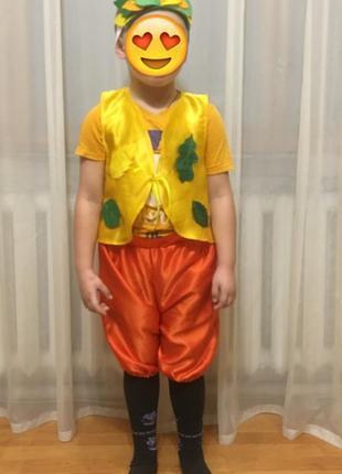 Костюм листочка на мальчика 3-6 лет  на праздник, новогодний детский костюм