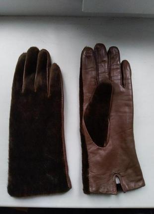 Кожаные перчатки