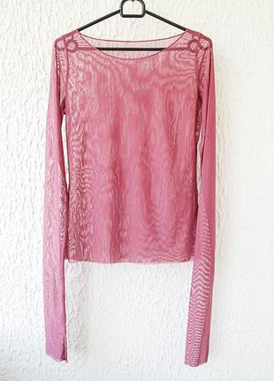 Блуза прозрачная, сетка