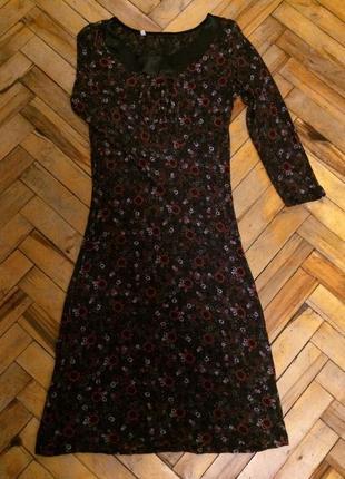 Нарядное фирменное платье с цветочным принтом