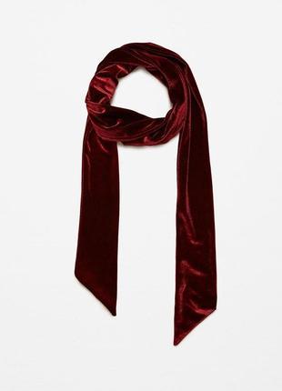 Велюровый шарф, галстук zara