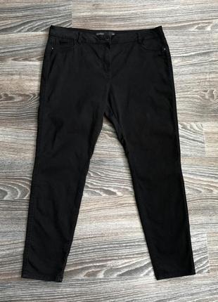 Черные хлопковые обтягивающие джинсы классические брюки штаны скинни от next leggins
