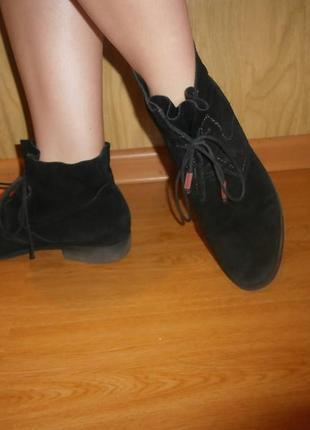 Удобные ботинки/27,5 см/ нат.замш/низкий ход