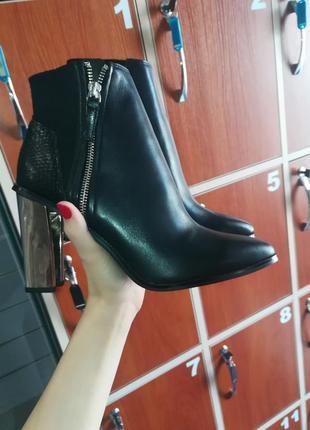 Ботинки из натуральной кожи 39р.